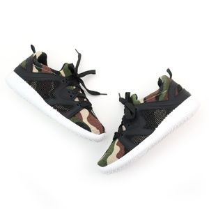 Qupid Nacara Khaki Green Camo Sneakers NEW!